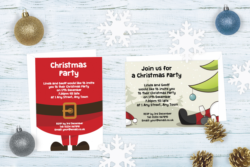 Christmas Party Invitations | Christmas Invites | Design Online Plus ...